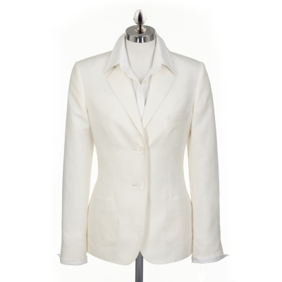 Chalk Linen Cotton Blazer