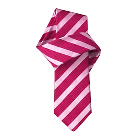 Lavenham Pink Satin Stripe Mogador Black Label Tie - CTShirts - US