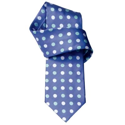 Rufus Blue Spot Handmade Woven Tie