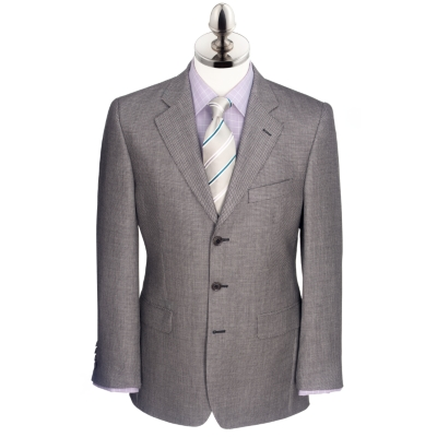 Charles Tyrwhitt Grey Birdseye English Suit Jacket