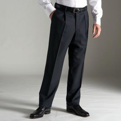 Charles Tyrwhitt Navy Herringbone English Suit Trousers
