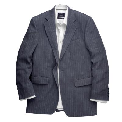 Charles Tyrwhitt Navy stripe Linen Jacket